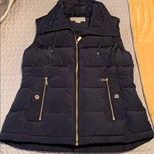 Michael Kors navy blue vest